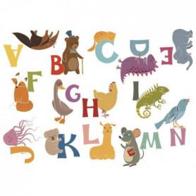 NAF NAF Jeu De 2 Stickers Animals Alphabet