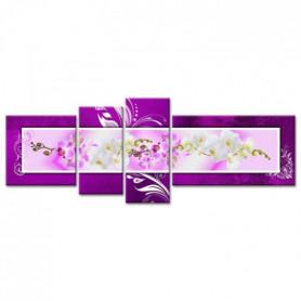 Tableau Déco Moderne Frise D'orchidées - Fleurs
