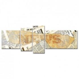 Tableau Déco Journaux Vintage - 160x60 cm