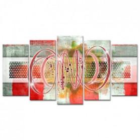 Tableau Déco Spirales et Cercles - 150x80 cm