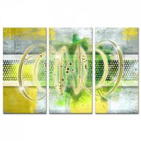 Tableau Déco Triptyque Abstrait Déco Ruche - 120x80cm