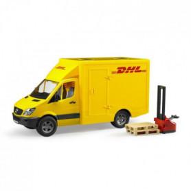 BRUDER - Camion de transport DHL avec un transpalette
