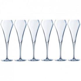 CHEF ET SOMMELIER Lot de 6 Flûtes a champagne