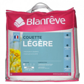 BLANREVE Couette légere Polycoton 140x200 cm blanc