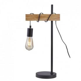 DETROIT Lampe industrielle en bois - 24 x 18 x H60 cm