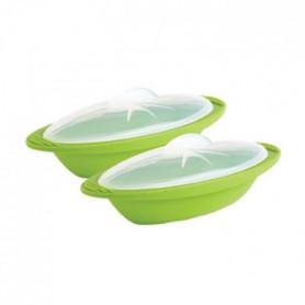 ille légume + papillote - Silicone sans BPA - Vert