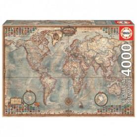 EDUCA Puzzle 4000 Pieces - Mappemonde