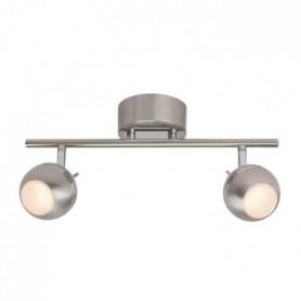 COMB Plafonnier LED 9W a 2 lumieres argenté