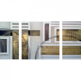 CUBIC Tableau multi-panneaux Toile peinte 70x140 cm