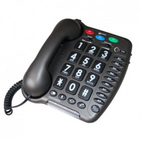 GEEMARC Téléphone fixe grosses touches sénior AMPLIPOWER 40