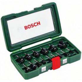 """BOSCH Accessoires - coffret 15 fraises 1/4"""""""