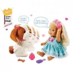 VTECH Poupée Little Love - Lou Joue Avec Son Toutou