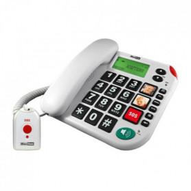 Téléphone sénior grosses touches fixe MAXCOM KXT48