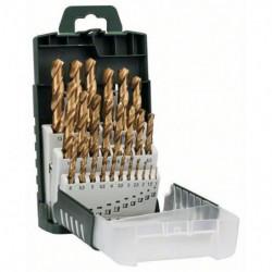 BOSCH Accessoires - set 25 forets hss titane 1 -13mm