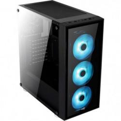 AEROCOOL Boitier PC QUARTZ RGB Noir (verre trempé)