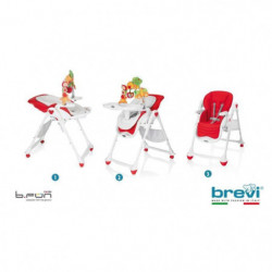 BREVI Chaise Haute B-Fun Multifonctions Rouge