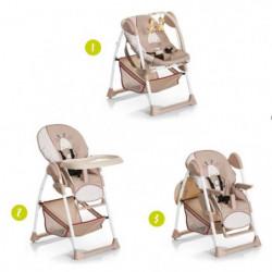 HAUCK Chaise Haute évolutive 2 en 1 Sit'N Relax - Giraffe