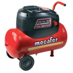 MECAFER Compresseur d'air horizontal 24L 1,5HP Oil