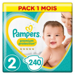 PAMPERS Premium Protection New Baby Taille 2 - 4 a 8kg