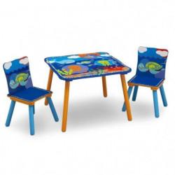 Ensemble Table et 2 Chaises Bois Enfant - Océan