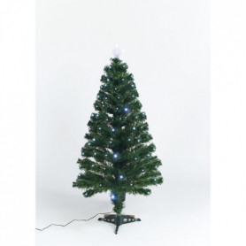 Sapin vert de Noël Caméléon - H 90 cm - Fibre opti