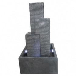 Fontaine City 3 colonnes a LED 38x38x69cm - Gris