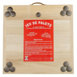 MECABOIS Jeu de Palet Complet - 12 plates a lancer