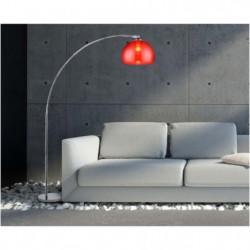 DESI Lampadaire arceau rouge - H 166 cm - Contemporain