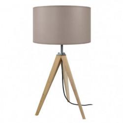 IDUN Lampe a poser en bois naturel - Ø30 x H.56 cm