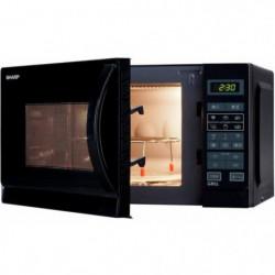 SHARP R-742BKW - Micro-ondes grill - Noir - 25L - 900 W