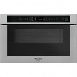HOTPOINT MH 400 IX - Micro-ondes combiné encastrable inox