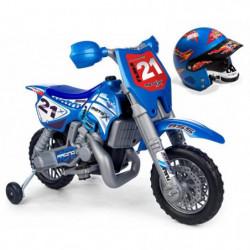 FEBER - Moto X Cross avec Casque - Véhicule Electrique