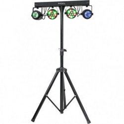 IBIZA DJLIGHT60 Support de lumiere avec 2 projecteurs