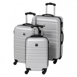 FRANCE BAG Set de 3 Valises Rigide ABS 4 Roues 55-65-70cm