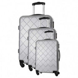 BAG STONE Set de 3 Valises 4 roues S/M/L Gris Lewis