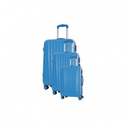 TRAVEL ONE Set de 3 Valises 8 roues S/M/L Bleu Hills