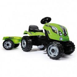 SMOBY Tracteur a pédales Farmer XL Vert + Remorque