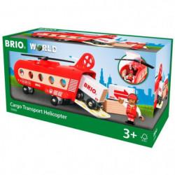 BRIO World  - 33886 - Helicoptere Cargo - Jouet en bois