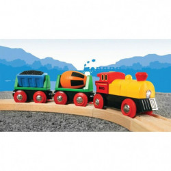 BRIO World  - 33319 - Train De Marchandises Avec Lumiere